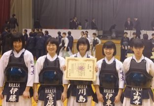 宮城県高等学校剣道選手権大会 準優勝!